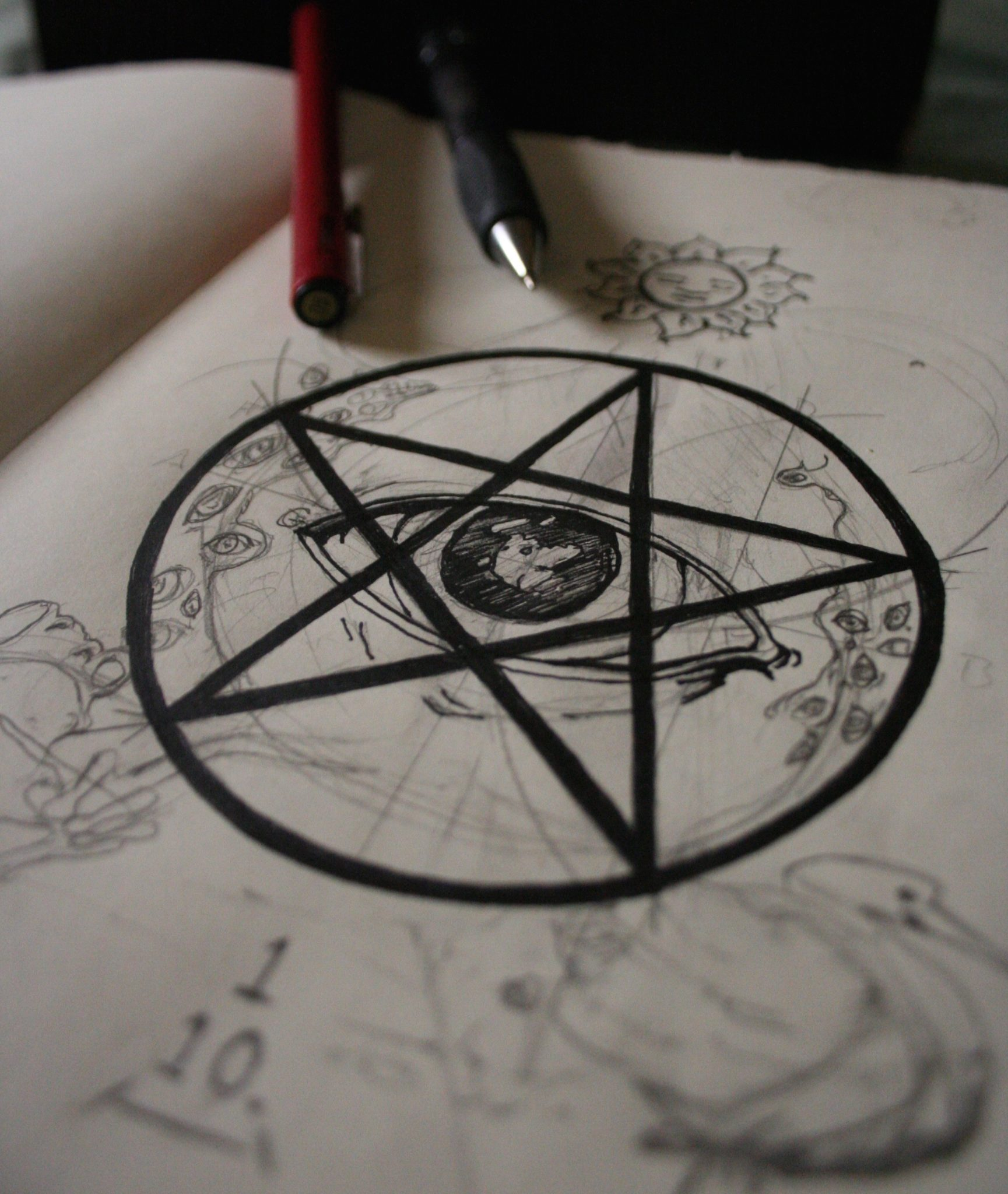 eye in pentagram magical alchemy