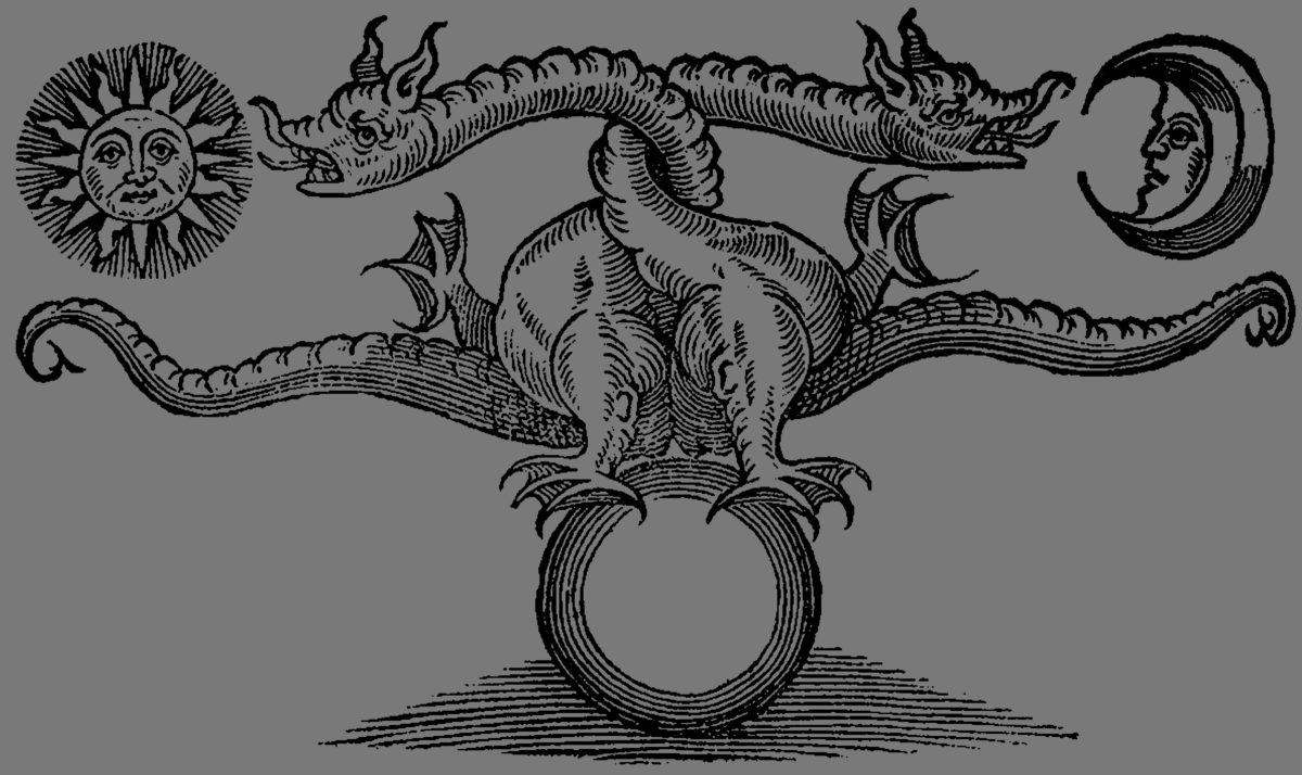 Dragon of the Stone – Alchemical Dragon illustration explained