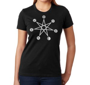 days of the week ladies black t shirt from Closet of Mysteries
