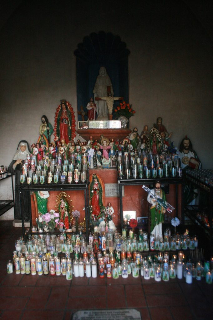 Shrine at San Xavier del Bac in Tucson AZ