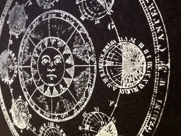 Vintage solar illustration screen printed t shirt from Closet of Mysteries