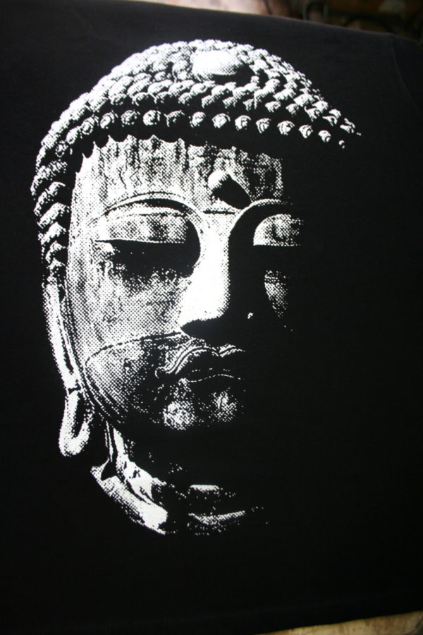 Great Buddha screen printed t shirt from Closet of Mysteries