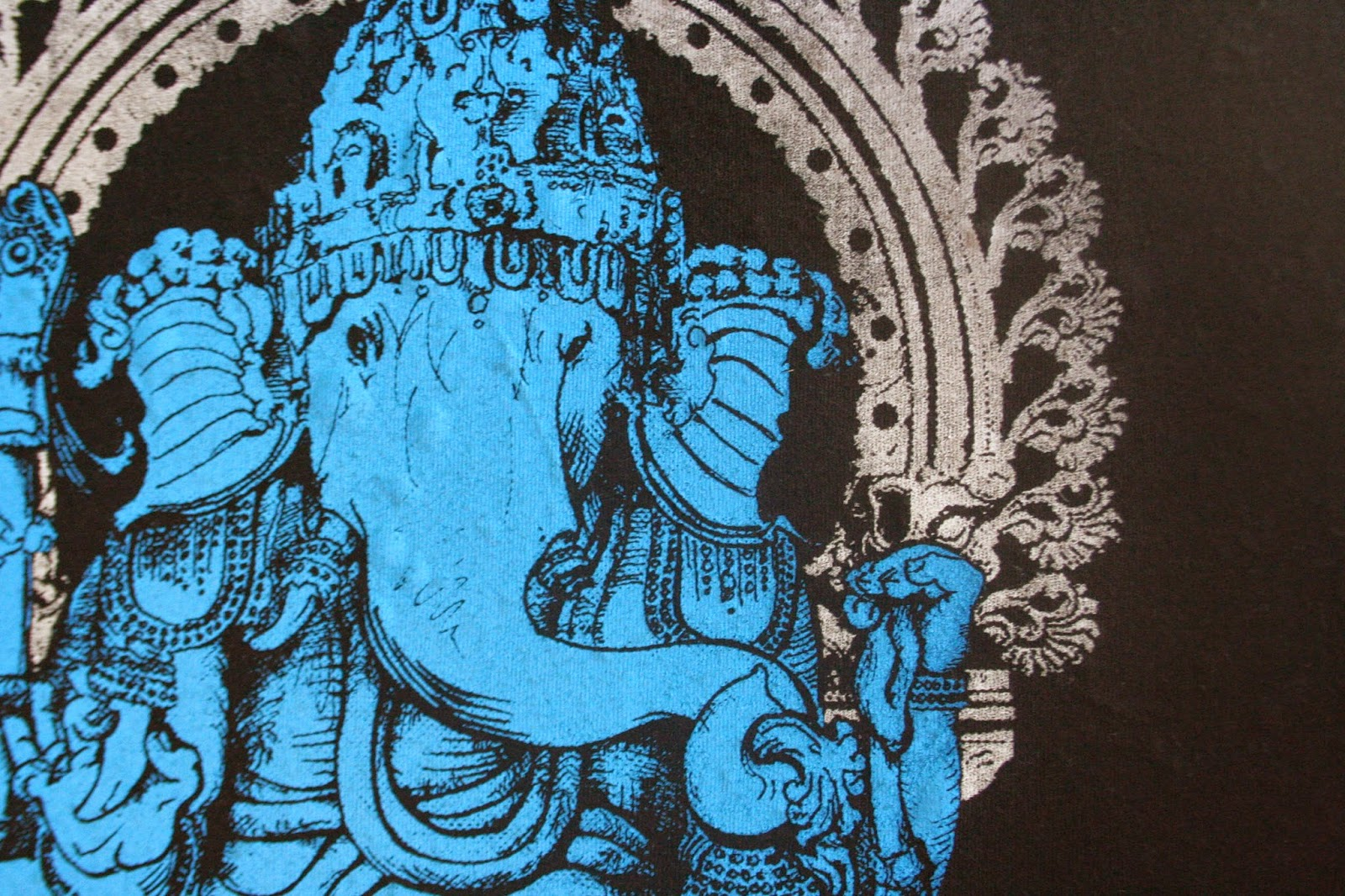 screen printed Lord Ganesh T Shirt from Closet of Mysteries