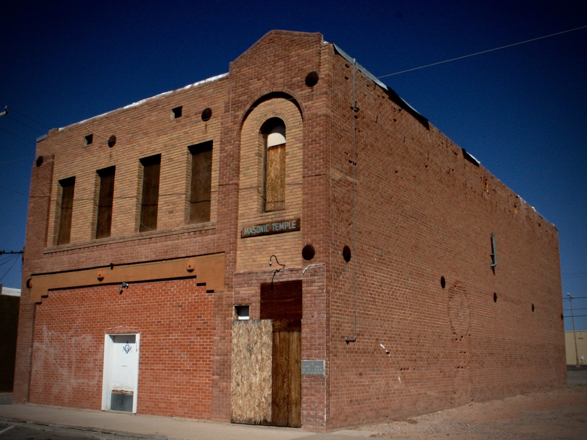 Abandoned Freemason Temple in Coolidge AZ
