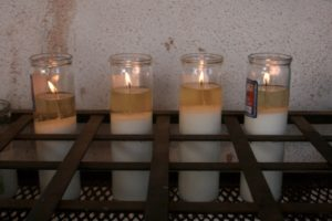 Candles at San Xavier del Bac Mission