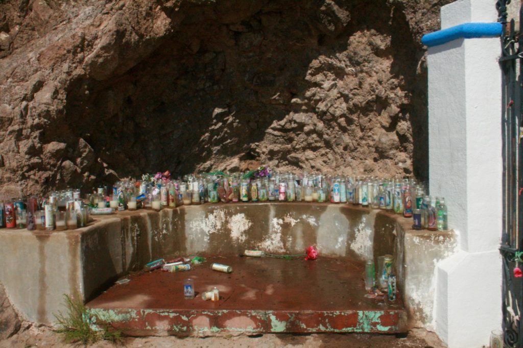 Shrine at cross mount next to San Xavier del Bac Mission