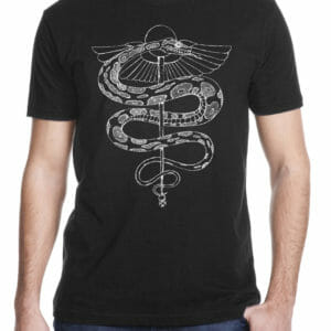 rod of asclepius shirt black variation by Closet of Mysteries