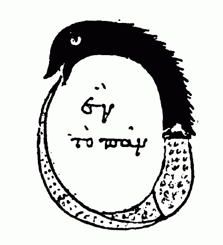 Ouroboros symbol from Chrysopoea of Cleopatra