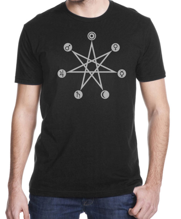 days of the week magic correspondence shirt by closet of mysteries