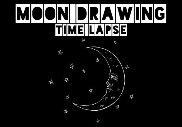 Moon Drawing Time Lapse – T Shirt Design