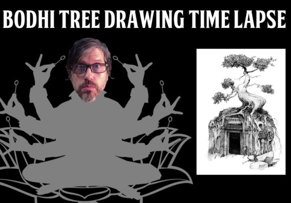 Bodhi Tree Drawing Time Lapse Video – Artwork in Progress